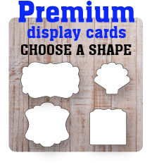 Premium Display Card Shapes
